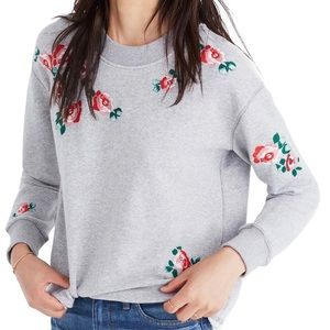 Madewell Tops - Mile(s) by Madewell Embroidered Crop Sweatshirt